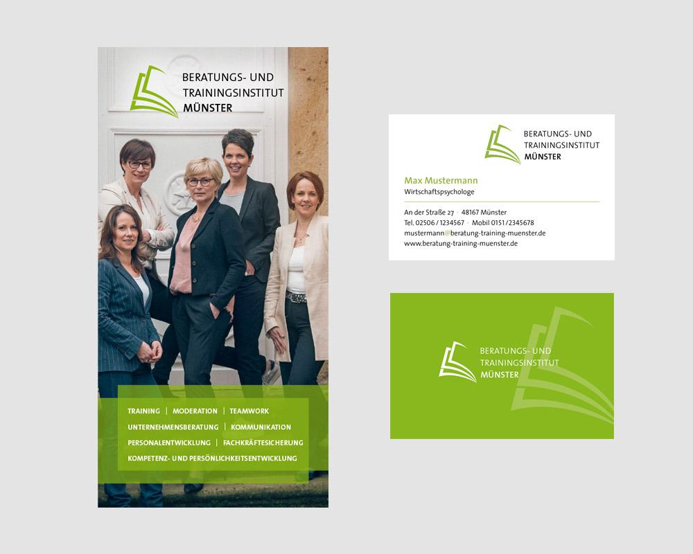 Logodesign und Geschäftsausstattung für das Beratungs- und Trainingsinstitut Münster