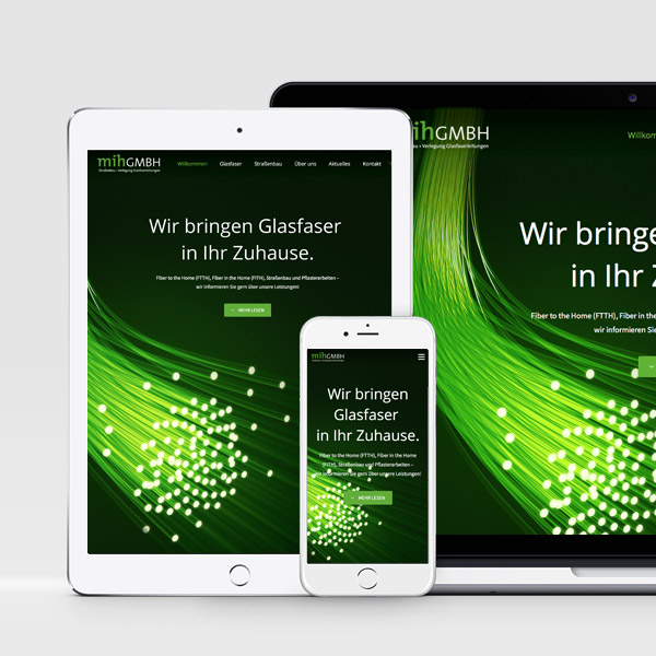 Webdesign für die mih GmbH in Münster
