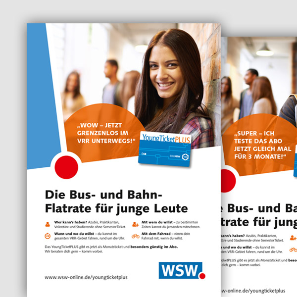 Kampagne YoungTicketPlus für die WSW mobil GmbH