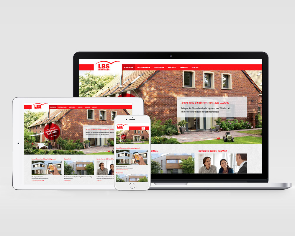 Webdesign LBS Immobilien GmbH Nordwest