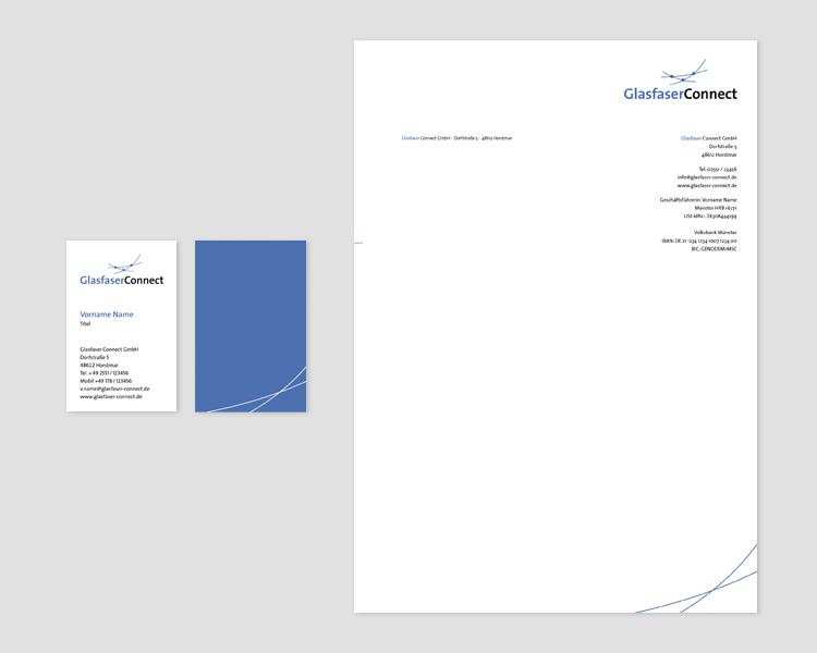Corporate Design Glasfaser Connect GmbH