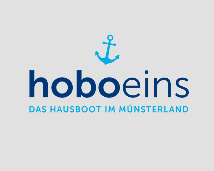 """Logoentwicklung für das Hausbootprojekt """"Hoboeins"""""""